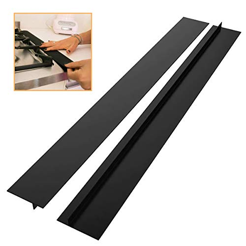 Kitchen Silicone Stove Gap Cover(2 Pack),25/21inch Kitchen Silicone...