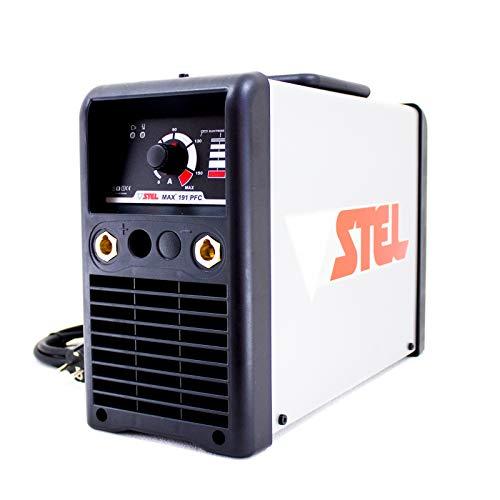 SALDATRICE INVERTER STEL MAX 191 PFC STICK SMAW PROFESSIONALE CON KIT CAVI...