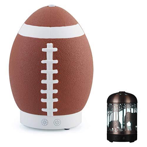 XinMeiMaoYi Difusor de aceites Esenciales Humidificador de Niebla fría de 160 ml - Humidificadores LED de 7 Colores Elefante y Rugby US120V