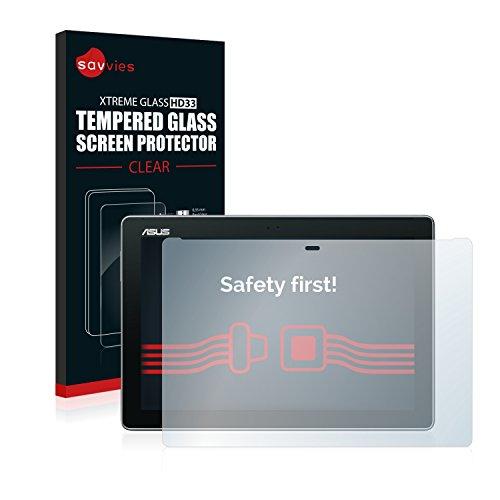 Savvies Panzerglas kompatibel mit Asus ZenPad 10 Z300CL - Echt-Glas, 9H Härte, Anti-Fingerprint