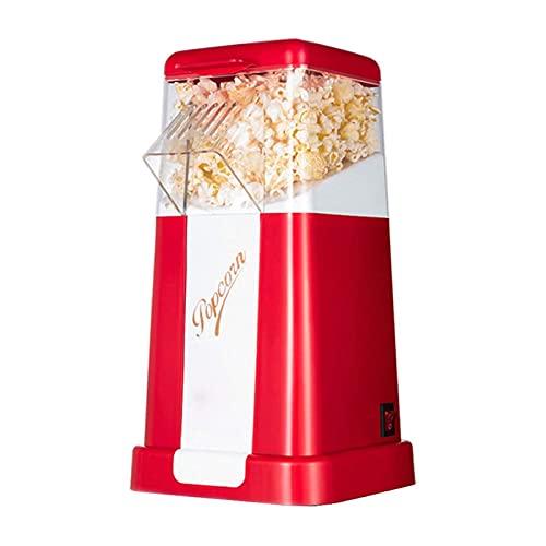 ELXSZJ XTZJ Fabricante de Palomitas de Palomitas de Aire Caliente, máquina de maíz eléctrica 1200W, Ritmo de populación del 98%, sin Alcohol, 2 Minutos Popper de Palomitas rápidas Fiestas de CU