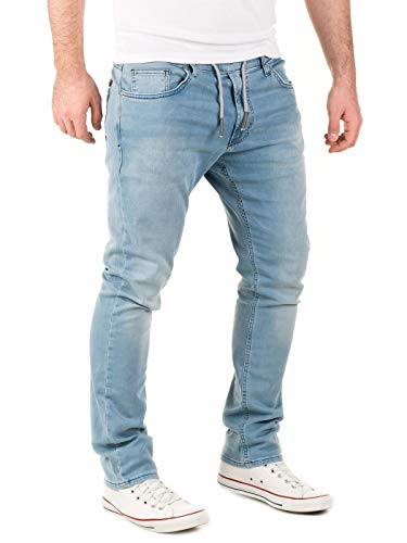 WOTEGA Herren Jeans Noah - Sweathose in Jeansoptik - Männer Jogg-Jeans Slim, Blau (Blue Shadow 3R4020), W33/L30