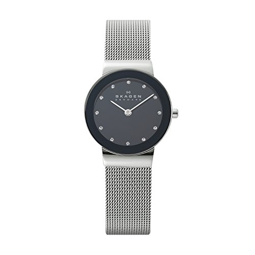 Skagen Women's Ancher Quartz Stainless Steel Mesh Casual Watch, Color: Silver-Tone (Model: 358SSSBD)