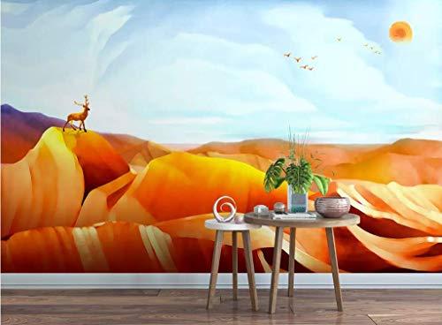 papel pintado 3D personalizado Pared Wallpaper Desierto De Alces dormitorio cocina 3D empapelar Fotomural Decoración damasco murales decoración de paredes moderna
