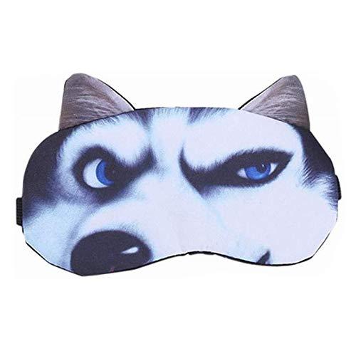 CHENMAO Linda máscara de Ojo de sueño para niños para niños, Hombres, Dibujos Animados para Perros, súper Suave, Cubierta de Ojos para Dormir, vendado