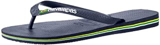 Havaianas Men's Brazil Logo Flip Flop Sandal, Navy Blue, 7-8