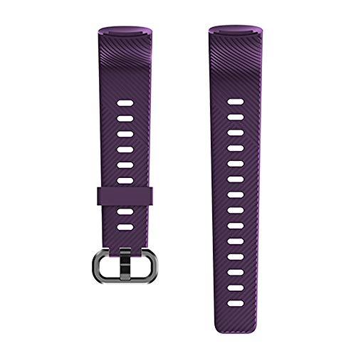 Kungix Uhrenarmband für 152 Fitness Armband, Silikon Sportband Ersatzband Uhrenband für Frauen Männer mit Vier Farben (Lila)