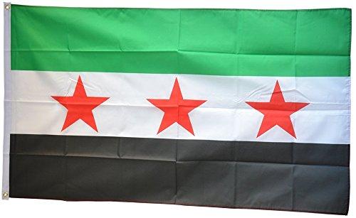 Fahne / Flagge Syrien 1932-1963 / Opposition - Freie Syrische Armee + gratis Sticker, Flaggenfritze®