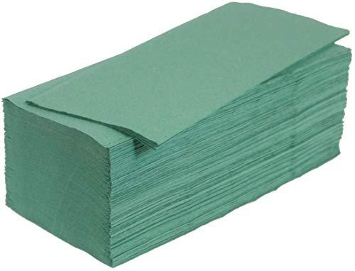 Papierhandtücher Falthandtücher ZZ-Falz grün 25x23cm 1-lagig 5000 Blatt