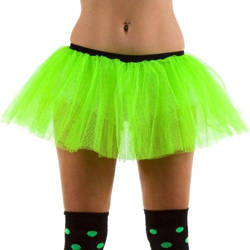 Neon Verte 3 couche de filet tu tu jupe, une taille env 36-40.