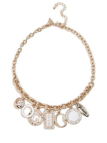 GUESS Factory Gold-Tone Enamel Charm Necklace