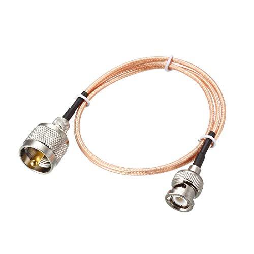 YeVhear UHF (PL259) macho a BNC, cable coaxial RG316 de 3 pies para antena coaxial, móvil a base