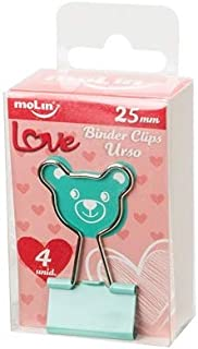 Binder Clips Love Urso Molin 25mm 4 unidades