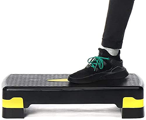 FZYE Stepper per Esercizi aerobici, Stepper per Pedali Cardio Yoga Antiscivolo Regolabile con Riser Allenamento in Palestra Esercizio Fitness Step aerobico Attrezzatura per Il Fitness s