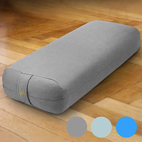 """Florensi Yoga Bolster (26""""x11""""x5.5""""), Premium Velvet Bolster Pillow, Large Rectangle Yoga Bolsters and Cushions, Supportive Bolster Pillow Yoga, Yoga Bolster Pillow for Restorative Practice"""