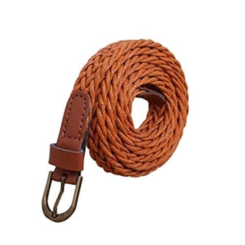 SSM Moda para Mujer Cinturón Breve Punto Candy Color Color Cuerda Hamp Cinturón Blanco Cinturón Femenino para Vestido (Cinturón Duración: 105 Cm, Color: Café) cinturones/Marrón /