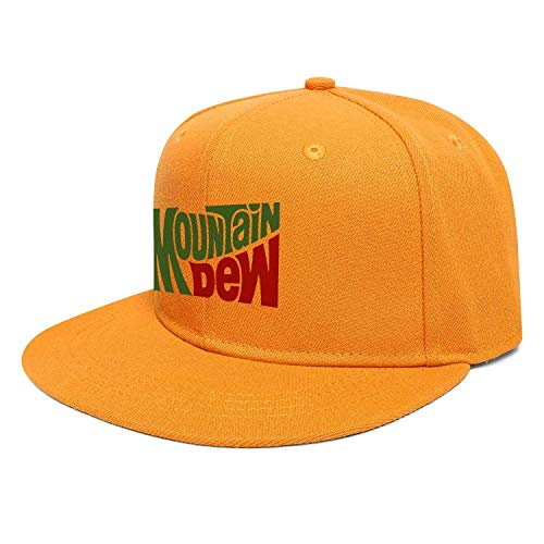 shenguang Männer/Frauen drucken Vintage Mountain-Dew-Drink-Logo-Stylish Hat Snapback Cap