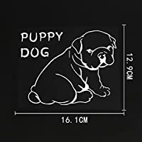 大人のための車のステッカー十代の子供たち16.1CM×12.9CMラップトップコンピュータ用の子犬犬のスクラップブッキング自転車冷蔵庫カメラブックデカール(3個)