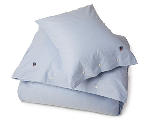 Lexington Pinpoint Bettbezug für Einzelbett, Blau, Baumwolle, 200x140x0.2 cm