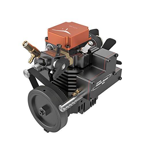 Xshion FS-S100GA Viertakt Motor Modell, 4-Takt Benzinmotor mit Drehzahl 2500-13500rpm, 3.5CC Motor für 1:10 1:12 1:14 RC Auto Boot Flugzeug Modell, Desktop Spielzeug Geschenke für Erwachsene