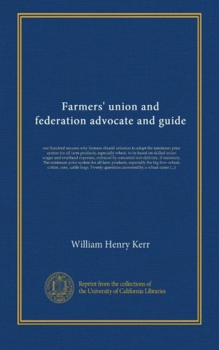 Farmers' union and federation advocate and guide
