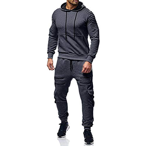 Mens Sweatsuit Jogging Suits 2 Piece Hoodies Sweatpants Sets Track suits Casual Full Zip Camo Athletic Sweat Suits