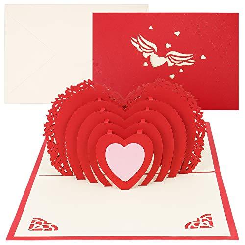 Pop Up Card, Love Card, Karte Zum Valentinstag, Card For Valentine's Day, Greeting Cards,Geburtstagskarte Für Liebhaber,Verlobungskarte,Wedding Card,Grußkarten Set