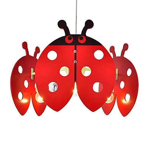 Plafondlamp voor kinderen plafondlamp, kroonluchter kinderen slaapkamer lampenkap voor meisjes kinderkamer decoratie Cartoon zeven-sterren lieveheersbeestje decoratieve lamp