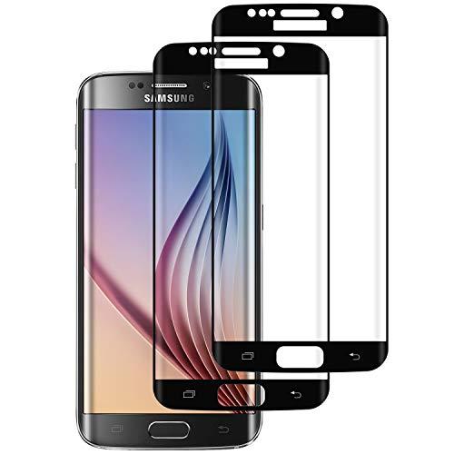 WISMURHI [2 Stück Panzerglas kompatibel mit Samsung Galaxy S6 Edge, Schutzfolie für Galaxy S6 Edge - Anti-Kratzer, Anti-Öl, Anti-Bläschen HD Displayschutzfolie