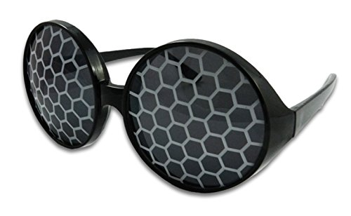 Insect Fly Sunglasses Bug Eye Glasses (Silver)