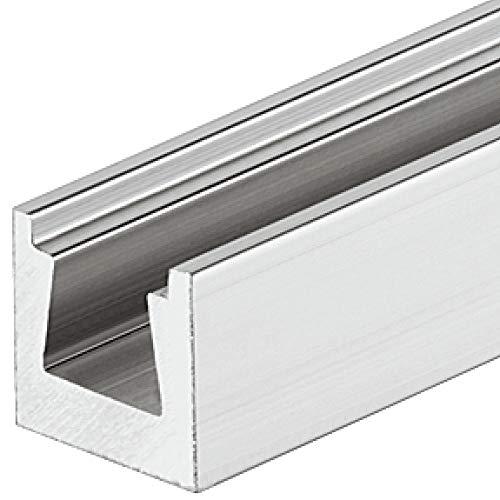 Gedotec Keilverbinder Aluminium für die verdeckte Montage | Möbelverbinder zum Einfräßen | Holz-Verbinder-Schiene mit Länge: 115 mm | MADE IN GERMANY | 1 Stück - Schrank-Verbinder unsichtbar