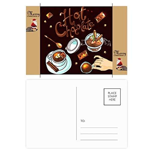 Hot Chocolade Desserts drinken Frankrijk Kerstman Gift Ansichtkaart Thanks Card Mailing 20 stks