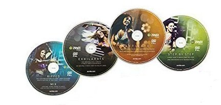 Zumba Fitness Zumba Exhilarate Body Shaping System, 4 Dvd S Zumba Video Zumba Workout
