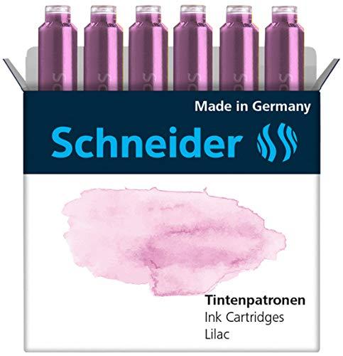 Schneider INK CARTRIDGE PASTEL, 6 CARTRIDGES/BOX, LILAC (166128), purple