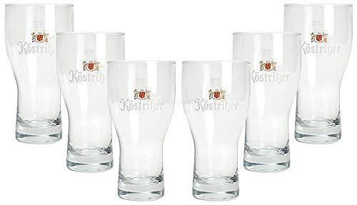 Mixcompany Köstritzer Bierglas - Glas/Gläser Set - 6X Biergläser mit 0,3L Eichung / 300ml Eichstrich