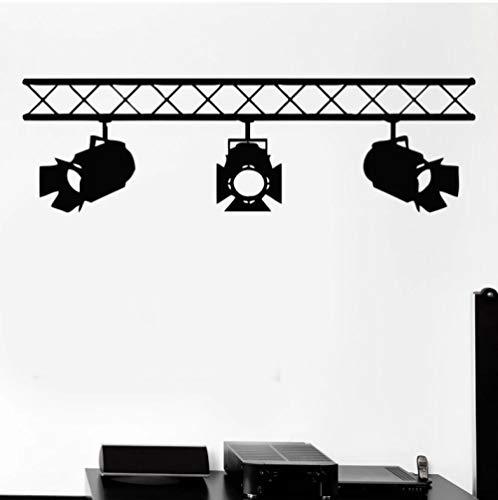 Studio Salon intérieur cinéma cinématographie Art Mural Stickers muraux projecteurs Vinyle Autocollant Mural pour Film Studio société décor 87x26 cm