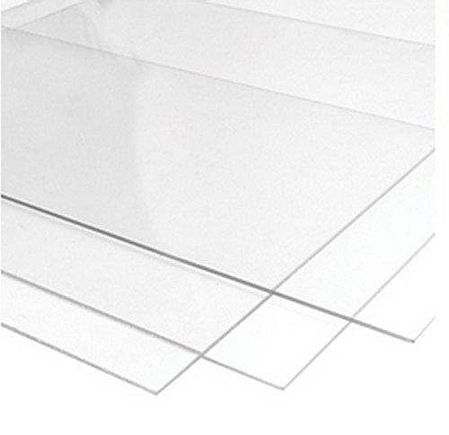 500mm x 500mm plastica trasparente acrilico perspex foglio–2mm, 3mm, 4mm, 5mm, 6mm, 8mm, 10mm di spessore (2MM di spessore)