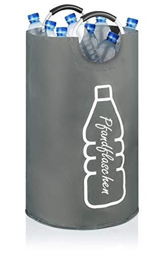 COTTARA Neu Premium Flaschensammler für Pfandflaschen Glasflaschen Leergut – Ideal als Pfandflaschen Aufbewahrung Pfandflaschen Sammelbehälter – Extra groß 69l grau (Grau, L)