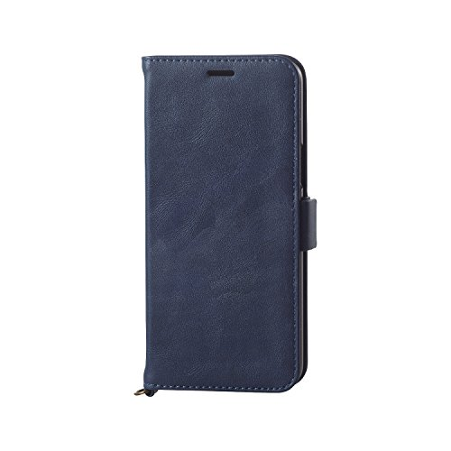 エレコム Galaxy S9/ソフトレザーカバー/磁石付/ネイビー PM-GS9PLFYNV
