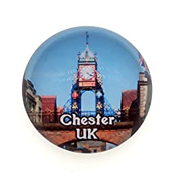 Eastgate Clock Walls of Chester UK Fridge Magnet 3D Crystal Glass Tourist City Travel Souvenir Collection Gift Strong Refrigerator Sticker