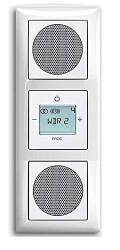 Busch Jäger Unterputz UP Digitalradio 8215 U (8215U) Komplett-Set Balance SI alpinweiß mit 2 x Lautsprecher in 3 fach Rahmen integriert inkl. Abdeckungen