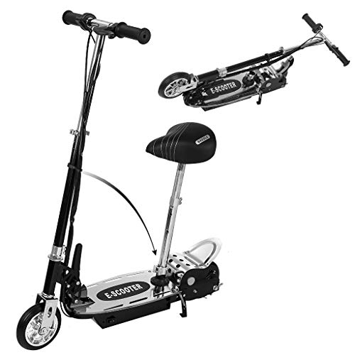Upgrade Electric Scooter-Portable Folding Rechargeable 2 in 1 Electric Scooter with Adjustable Handlebar and Movable Seat