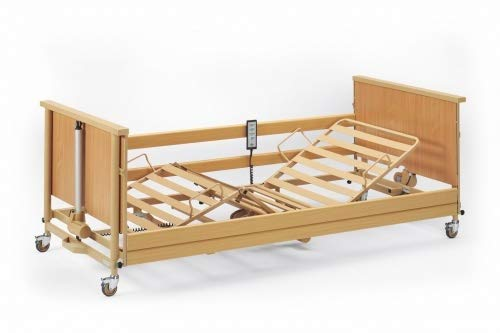 Burmeier Pflegebett Dali-Low Entry mit Holzseitengitter Krankenbett Seniorenbett