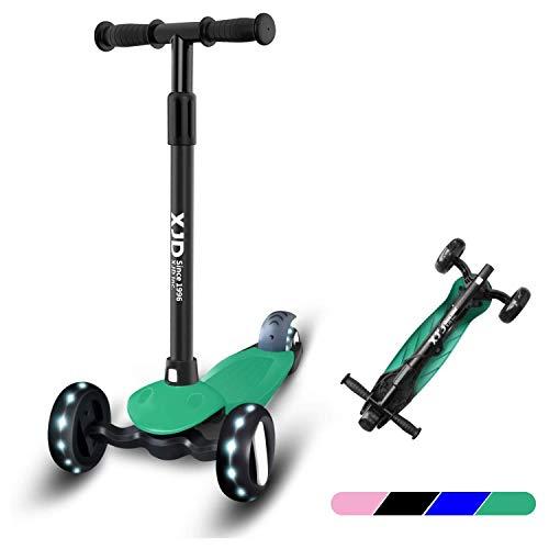 XJD Kinderscooter Kinder Roller mit 3 Rädern Kinderroller für Mädchen Junge ab 2 Jahren Höchenverstellbar sperrbare Richtung Abnehmbar Lenkerhöhe