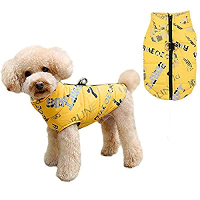 Anlitent Dog Winter Coats with Collar for Outdoor Hiking Hunting Waterproof Dog Rain Jackets with Zipper for Cold Weather Super Warm Reflective Dog Clothing for Medium Dogs 18 inch
