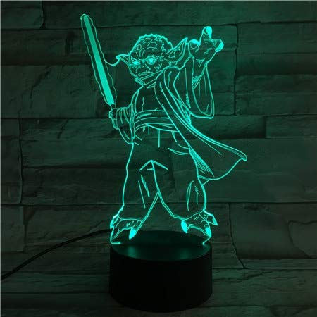 Yoda Master lámpara de Mesa lámparas Noche luz Interruptor táctil iluminación Decorativa atmósfera Luces para Regalos Infantiles