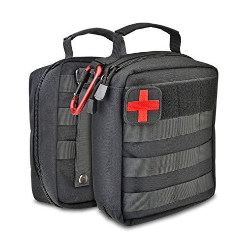 MED BUDDY Tactical Admin EMT Organizer - Emergency Pouch Lit: High Durability 1000D EDC, Waterproof Notebook, MOLLE, Locking Carabiner, Mesh Organizer - Survival Case