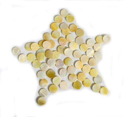 Mandolin Yellow Abalone Inlay Material Dots 2mm 100pcs Ukulele for Guitar Banjo Fretboard Mark Point