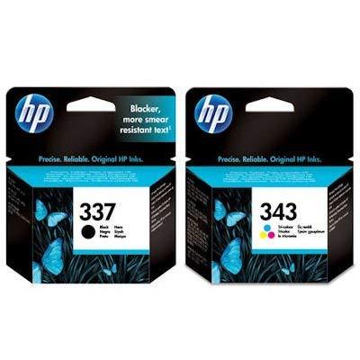 HP 337 / 343 Tintenpatronen, Schwarz / dreifarbig