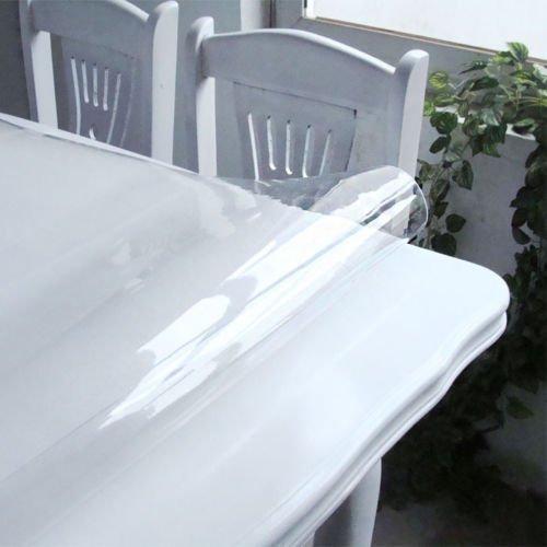 Russo Tessuti Tovaglia Trasparente Plastificata PVC Plastica Cucina 140 cm in Vendita al metro-140x140